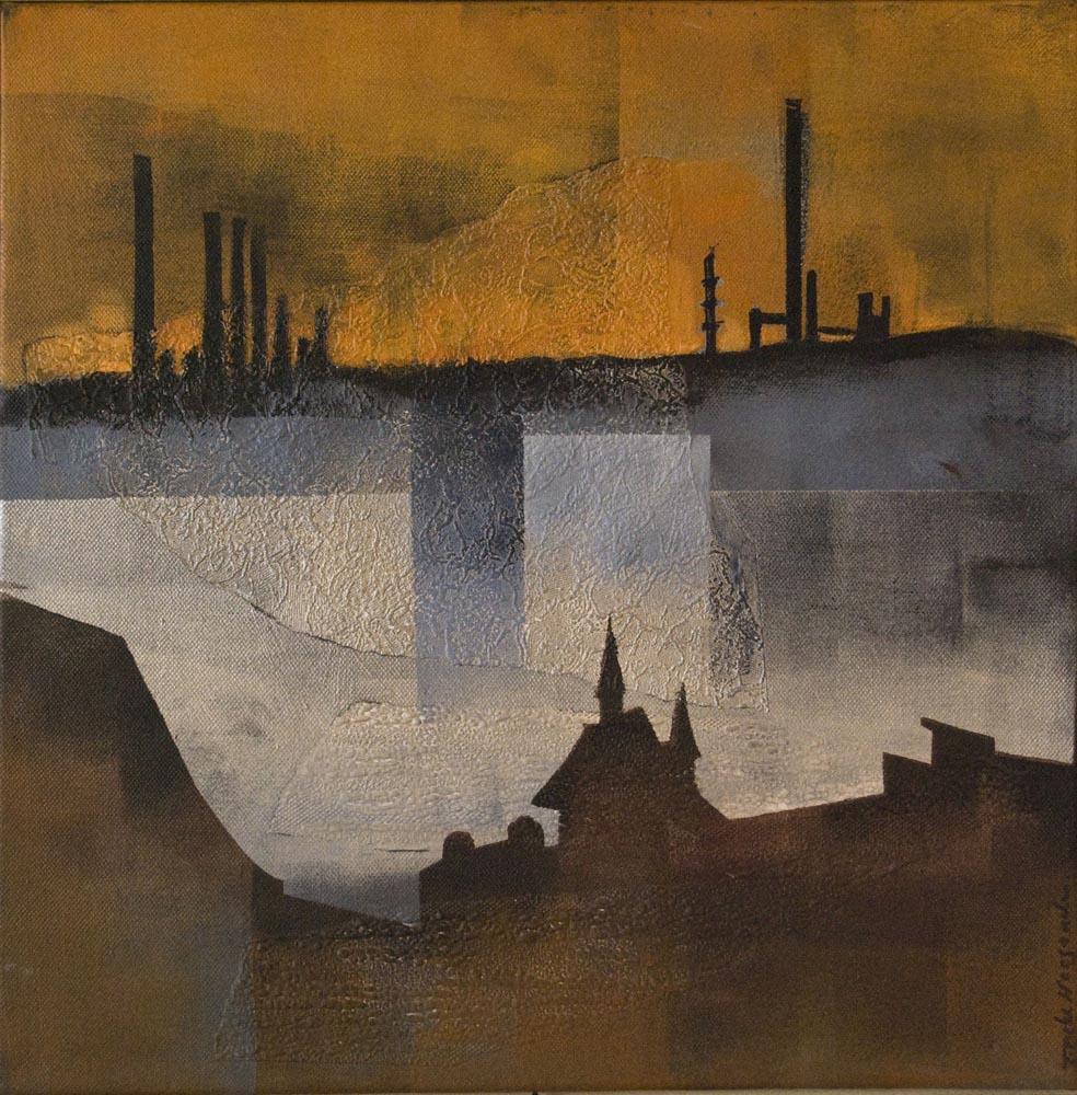 'Schwedt/Oder' acryl on canvas 40x40 cm.